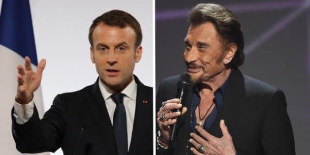 """Macron rend hommage au """"lyrisme brut et sensible"""" de Johnny, """"tout le pays est en deuil"""""""
