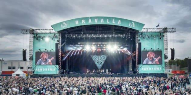 Le festival de musique Bråvalla édition 2017 a rassemblé 45.000 spectateurs.