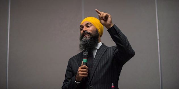 NDP Leader Jagmeet Singh speaks during the second day of a three-day NDP caucus national strategy session in Surrey, B.C., on  Sept. 12, 2018.