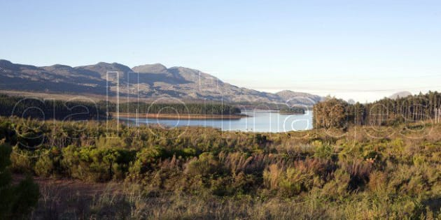The Steenbras Dam in the Western Cape.