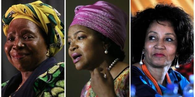 Nkosazana Dlamini-Zuma, Baleka Mbete, Lindiwe Sisulu.