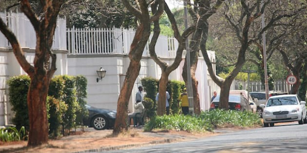 Photo: Gallo Images/ Kevin Sutherland: 7  Saxonwold Drive in Saxonwold, Johannesburg, part of the massive Gupta family compound. The row of houses cost more than R52 million, and is in one of Johannesburg's most exclusive suburbs.