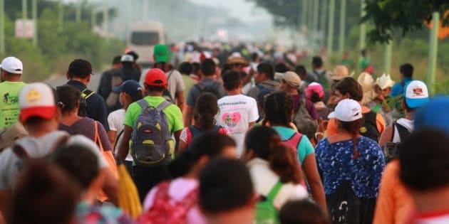 El presidente electo quiere darles oportunidad a nuestros amigos guatemaltecos, hondureños y salvadoreños para que vengan a trabajar a nuestro país, anunció Olga Sánchez Cordero. NOTIMEX/FOTO/FRANCISCO ESTRADA