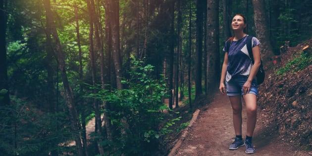 Profiter de la nature peut vous donner une meilleure image de votre corps.