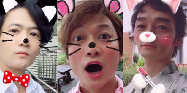 左から稲垣吾郎、香取慎吾、草なぎ剛