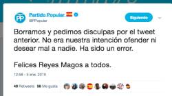 El PP se disculpa tras compartir un vídeo en Twitter deseándole la muerte a Pedro