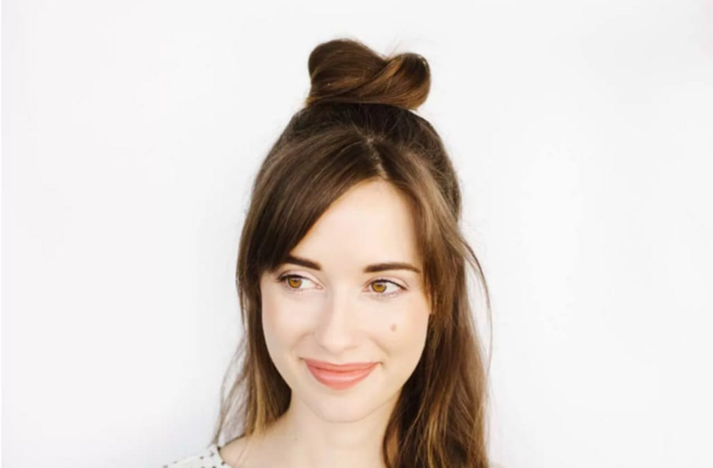 Half Up Bun Hairstyle Tutorial Aol Lifestyle