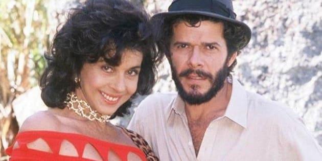 """Betty Faria e José Mayer em """"Tieta"""" (1989)."""