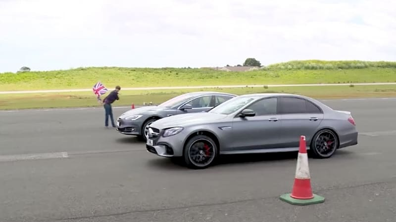 Thumbnail - Watch 'Top Gear' race a Tesla Model S against a Mercedes-AMG