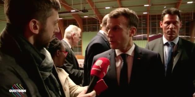 """NDDL: Dans """"Quotidien"""", Macron assure ne pas avoir plié face aux zadistes."""