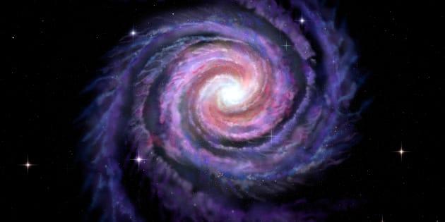 Una ilustración de la Vía Láctea.