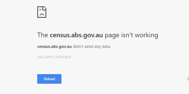 Australians trying to complete the Census on Tuesday night were presented with an error message.