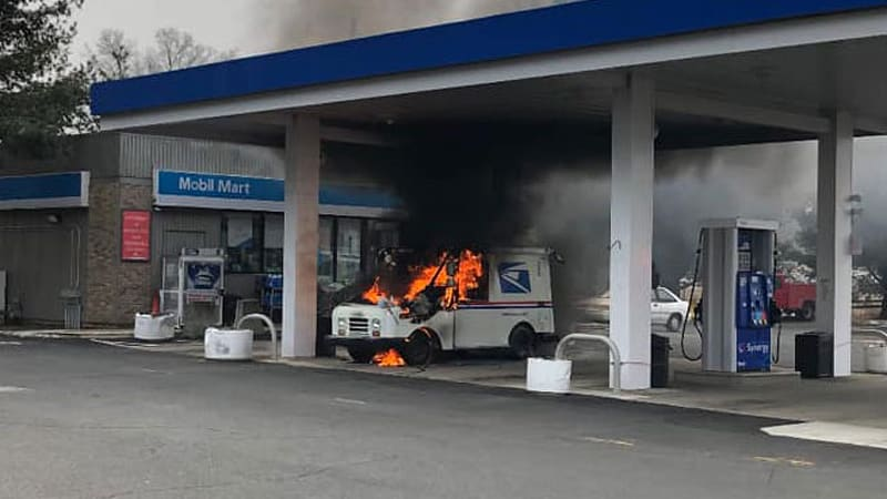 Mail trucks are reportedly catching fire at an alarming rate