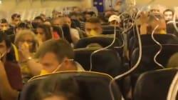 Un angustioso vídeo muestra cómo vivieron los pasajeros de un avión de Ryanair la despresurización de la