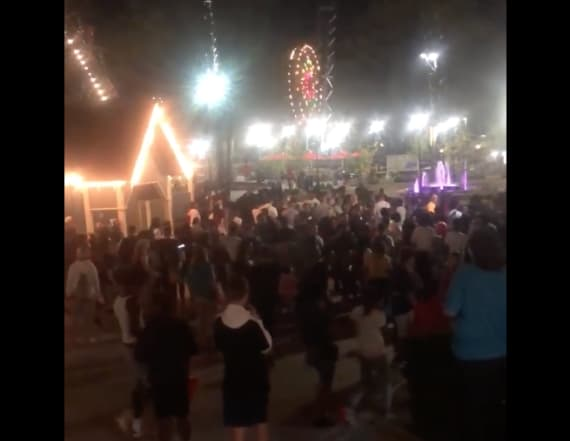 Brawl involving 300 teens breaks out at theme park