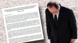 Le document qui circule à l'Assemblée pour destituer