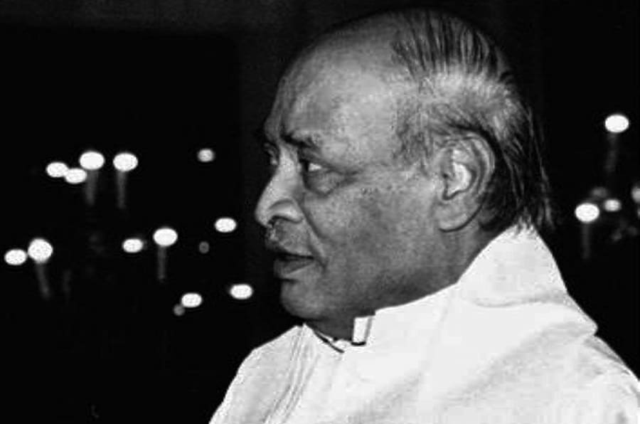Prime Minister Narasimha Rao attends a dinner after submitting his resignation in New Delhi Friday, May 10, 1996.