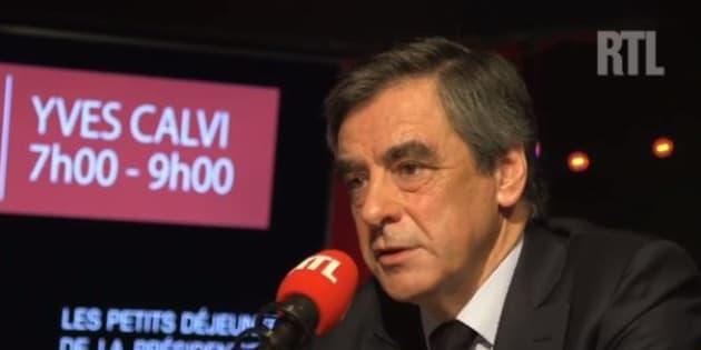 François Fillon sur RTL le 30 mars 2017.