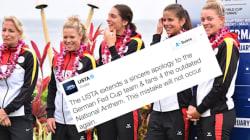 Une version de l'hymne allemand interdite depuis 1945 chantée avant un match de Fed Cup aux