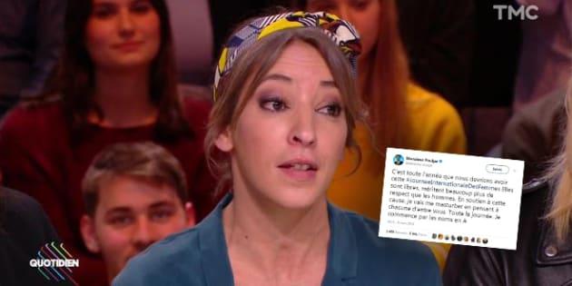 """""""Quotidien"""": Monsieur Poulpe critiqué par Nadia Daam après une blague sur la Journée internationale des droits des femmes"""