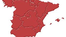 Cachondeo en Twitter por cómo ha pintado el mapa de España una tele