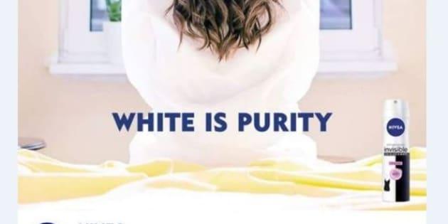 """La marque Nivea accusée de racisme avec le slogan """"White is purity"""""""