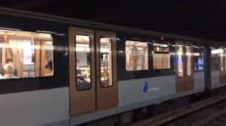 Après la défaite de la Belgique, le métro bruxellois a honoré son pari face à la