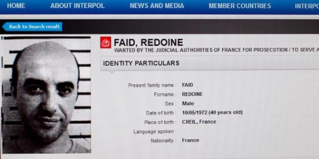"""Redoine Faïd: Nicole Belloubet annonce la réorganisation de l'administration pénitentiaire, """"insuffisamment réactive"""" (Photo: la fiche de Redoine Faïd mise en ligne par Interpol en avril 2013)"""