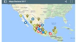 MAPAS: Así se ve el mapa electoral para el