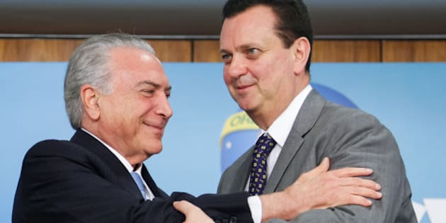 Presidente Michel Temer e ministro da Ciência e Tecnologia, Gilberto Kassab.