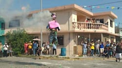 'El Bronco' como Judas: quemado en Sábado