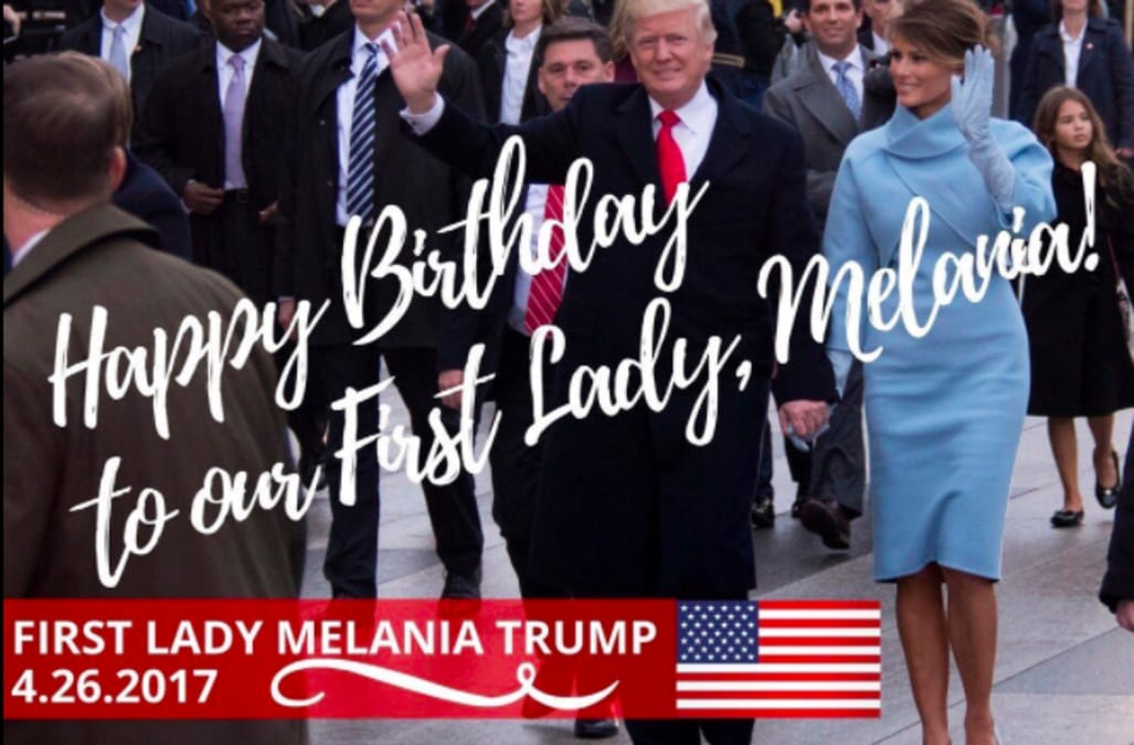 Donald Trumps Birthday Message For Melania Trump Has A Mistake In It