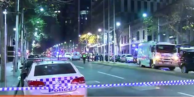 Police have shot two people in Melbourne.