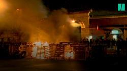 Les images du blocage de la prison de Fresnes qui détient Jawad