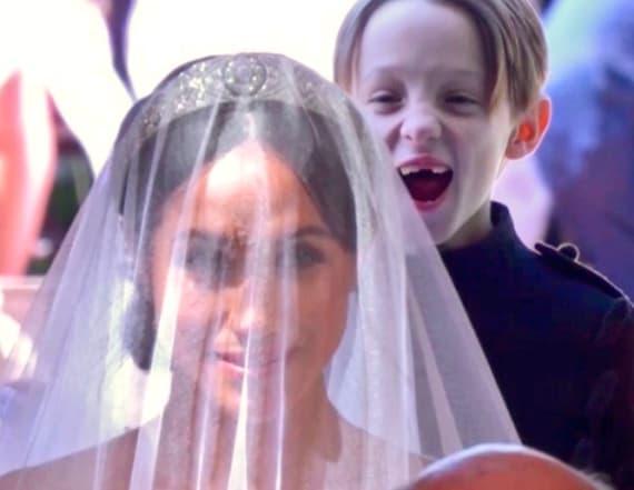 Smiling royal wedding page boy goes viral