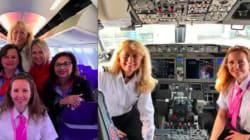 パイロットも、キャビンアテンダントも。「クルー全員が女性」の飛行機が空を飛んだ