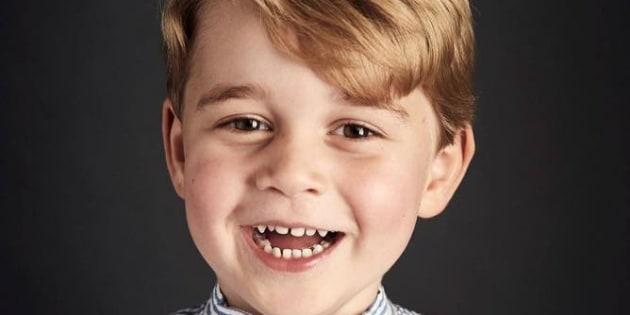 Il piccolo George nella foto di Chris Jackson