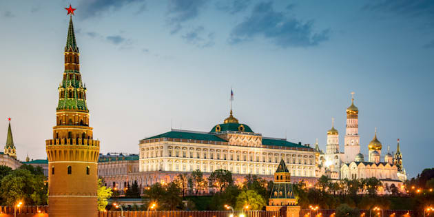 Moscú de noche.