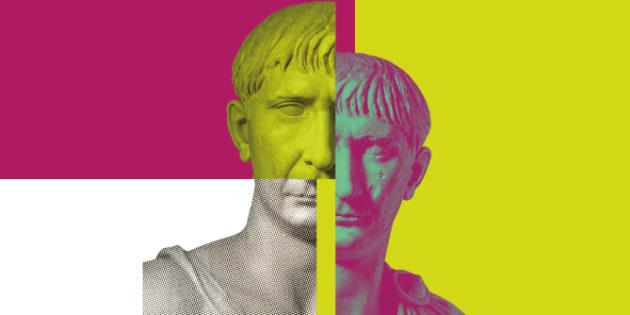 Cartel de la exposición 'Traiano. Costruire l'Impero, creare l'Europa' (Museo di Traiano Museo dei Fori Imperiale, hasta el 16 de septiembre de 2018)