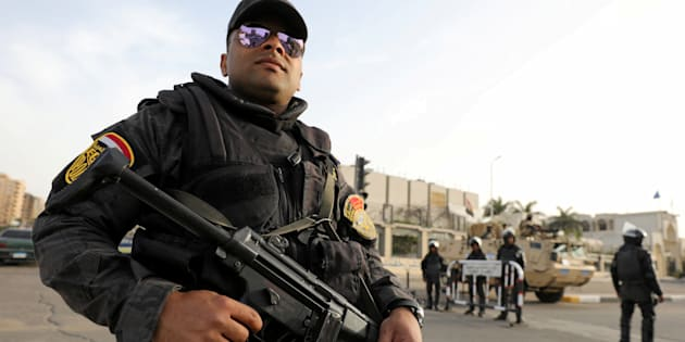 Un membre des forces spéciales de la police au Caire, avril 2017