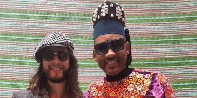 L'acteur américain Will Smith aux côtés du peintre Yassine Morabite