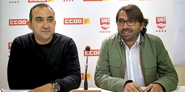 Javier Pacheco y Camil Ros, en una rueda de prensa reciente.