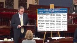 Il a parlé plus de 15 heures au Sénat américain contre la nomination d'un