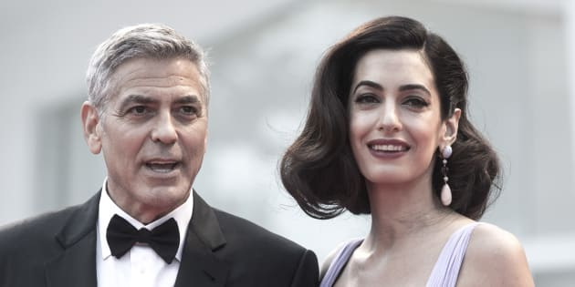 George Clooney and Amal Clooney during the 74th Venice Film Festival on Saturday in Venice, Italy. (Photo: Alessandra Benedetti - Corbis/Corbis via Getty Images)
