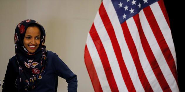 Ilhan Omar, première musulmane et réfugiée africaine au Congrès.