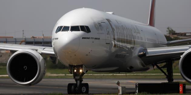 Un appareil Boeing 777-300ER du transporteur Emirates Airlines.