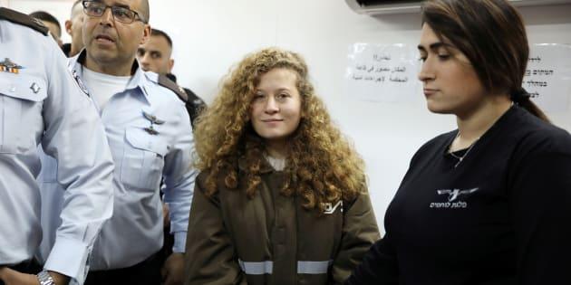Ahed Tamimi, compareciendo ante el juez el pasado 15 de enero.