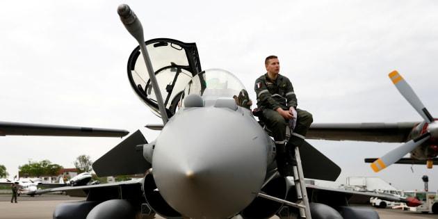 Un avion de chasse Rafale.