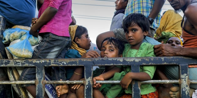Around 40,000 Rohingya have entered Bangladesh in the last few days.