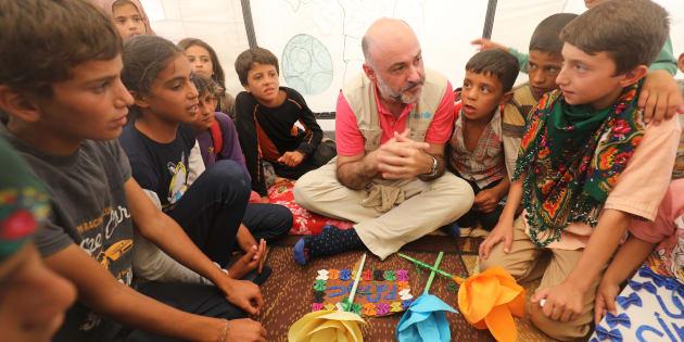 Fran Equiza, representante de UNICEF en Siria, el pasado agosto en el campo de refugiados internos de Ain Issa, a 50 kilómtros de Raqqa.